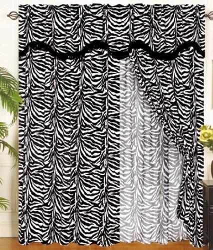Zebra print panels vinyl wall art decal these decals look like