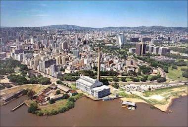 VISTA AÉREA DEPORTO ALEGRE, RS, BRASIL