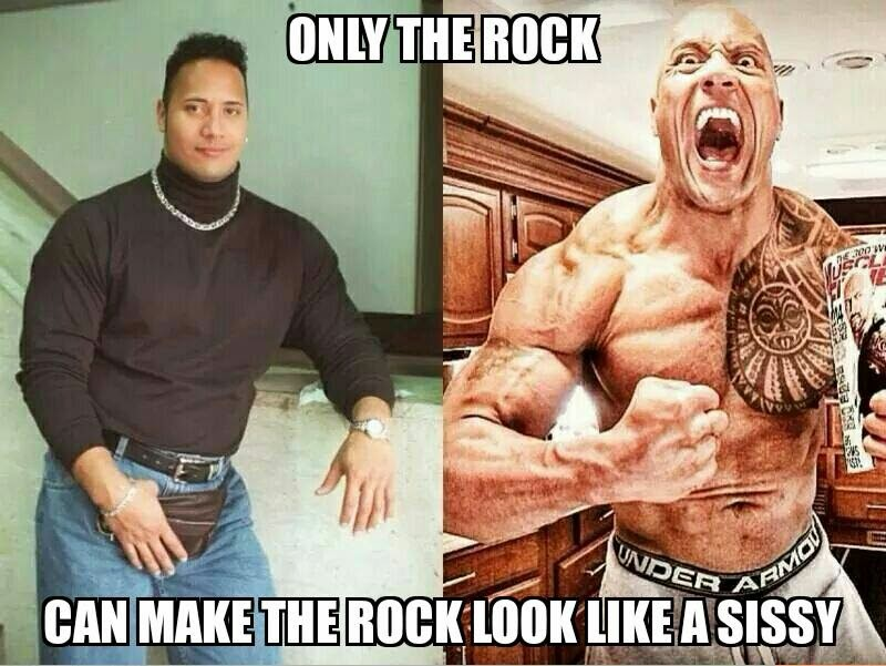 the rock on steroids or not