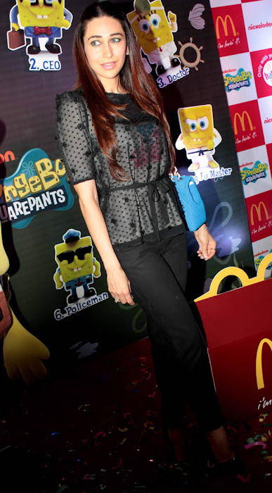 karisma kapoor launches spongebob squarepants happy meal photo gallery