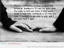 There difference between goodbye a quotes