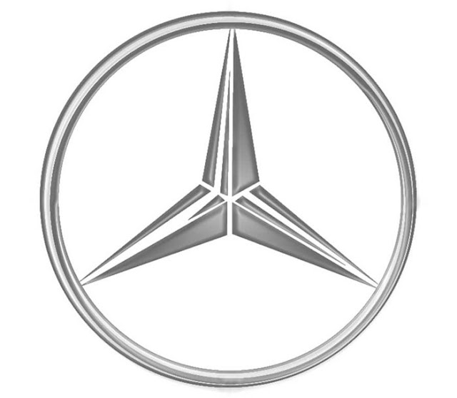 "The Mercedes—Benz three pointed star logo can be traced back to 1870, when Gottlieb Daimler sent his wife a postcard with he star on it. It was his desire to see the three pointed star on top of all of their factories, indicating their triumph over ""land, sea, and air."""