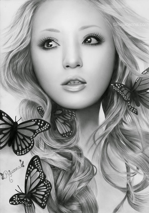 07-Ayumi-Hamasaki-Rajacenna-Photo-Realistic-drawings-from-a-novice-Artist-www-designstack-co