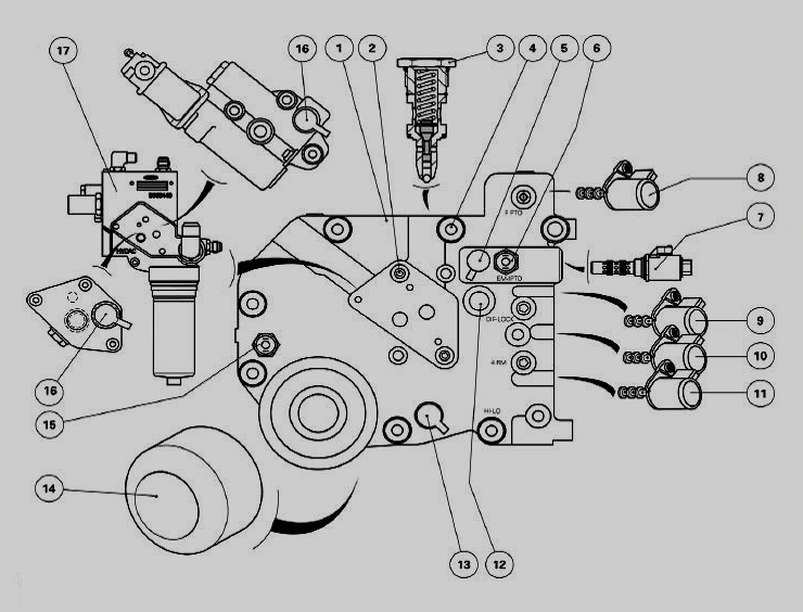 hydraulic solenoid valve manifold diagram