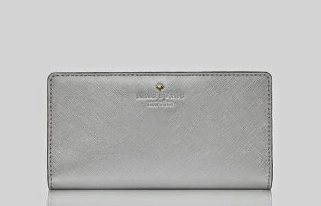 Kate Spade Stacy Cherry Lane Silver Purse Wallet