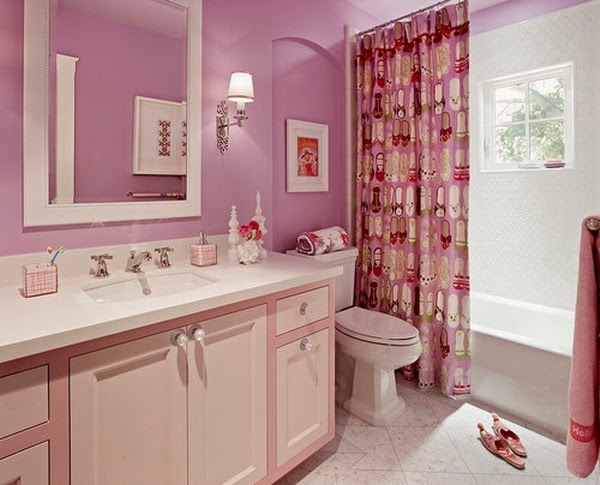 Curtains Ideas girls room curtain : Bathroom Kingdom: Remodeling Girl's Bathroom with Cute Washroom ...