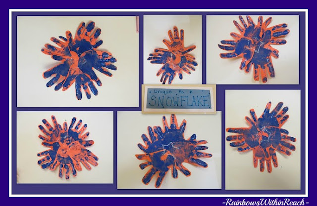 "Unique as a Snowflake Bulletin Board (from ""Hand"" RoundUP via RainbowsWithinReach)"