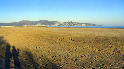 Beach of Empuriabrava in La Costa Brava