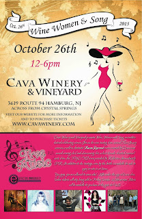 Wine Women and Song Festival: NJ's Cava Winery and Vineyard Presents Outdoor Music Festival on Oct. 26th