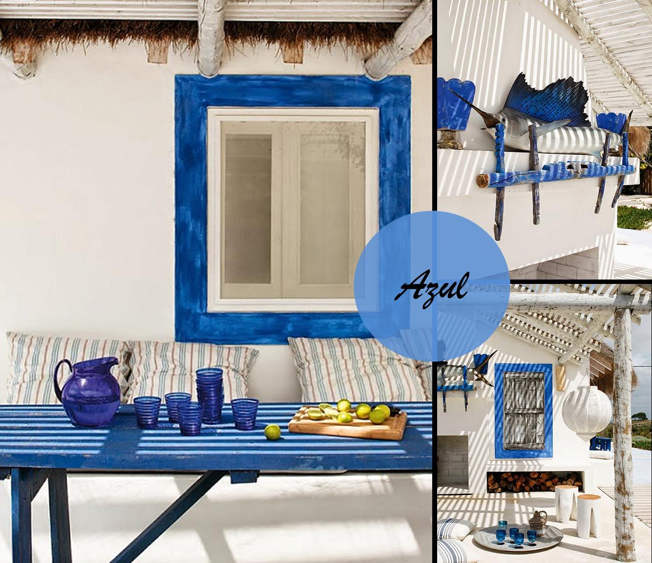 Decoracion facil exteriores con encanto en color azul - Casas de color azul ...