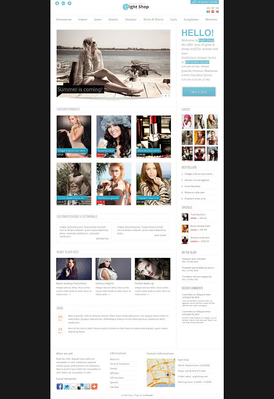 wordpress-opencart-template