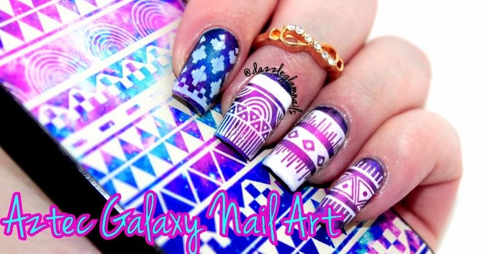 Nails Art Video Tutorial: Aztec Galaxy Nail Art Tutorial [Video ...