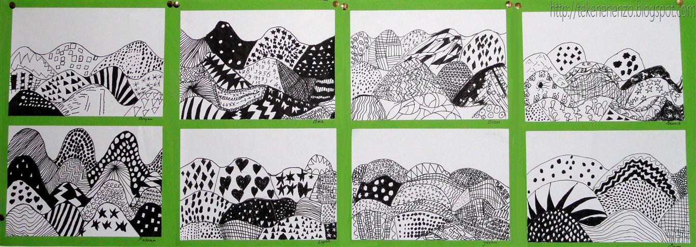 tekenen en zo: landschap in patronen