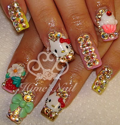 Diseños de uñas de Hello Kitty!! Super cute!