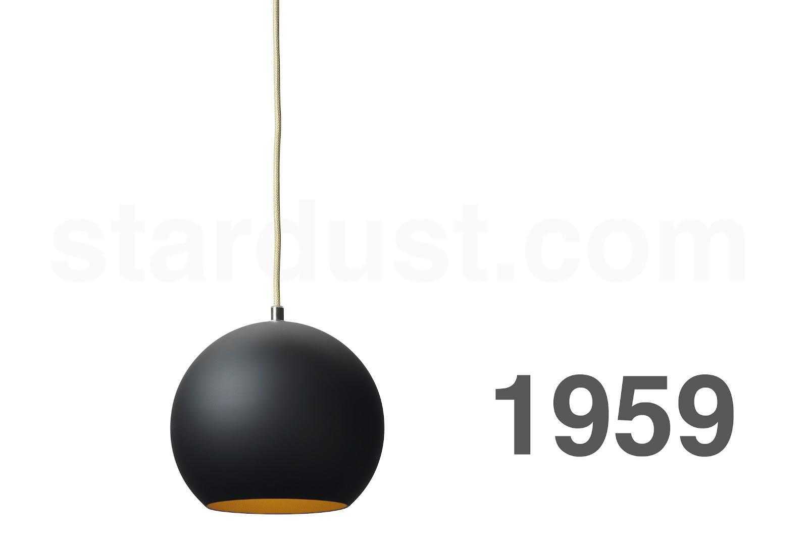 Topan round pendant lamp mid century modern lamp matte for Mid century modern hanging lamp