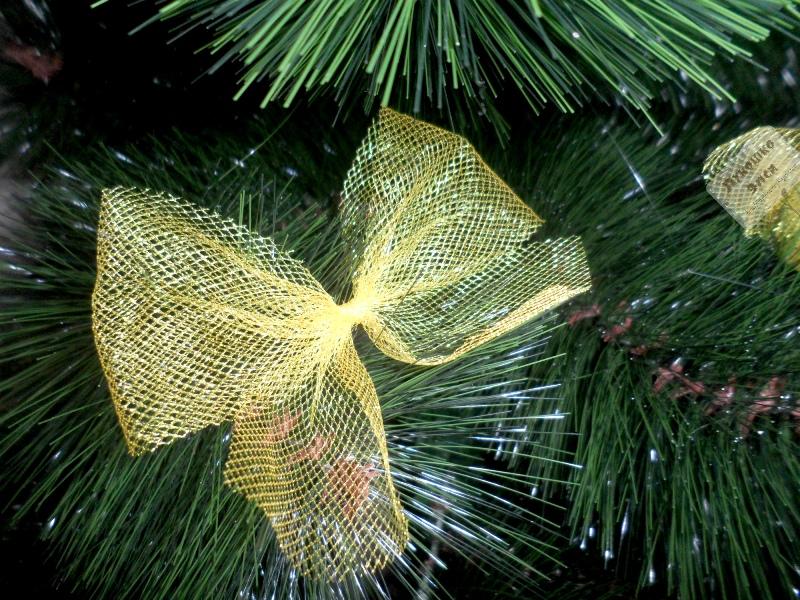 Банты из фатина на елку