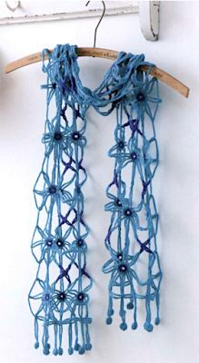 Ажурный шарф из фрагментов