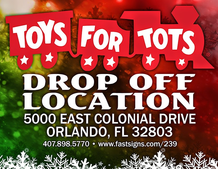 Toys For Tots Drop Off : Combat ptsd news wounded times orlando fastsigns giving