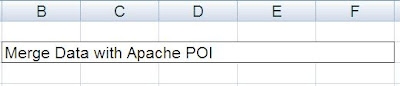 Merge Data Across Columns - Java POI Example - Output