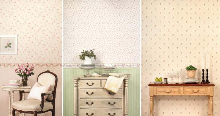 Papel de parede floral casa com moda - Papel pintado para recibidores ...