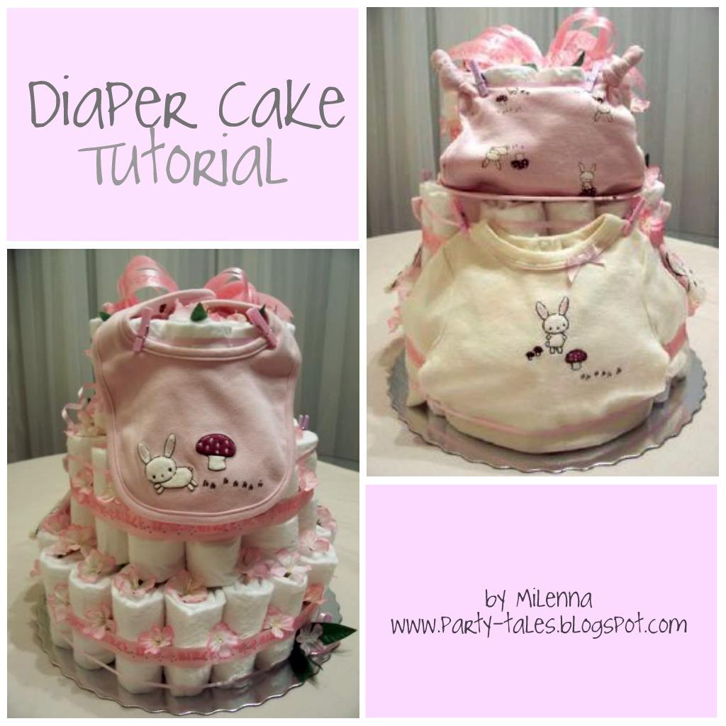 How To Make Baby Shower Diaper Cake: Diaper Cake Tutorial Part 1