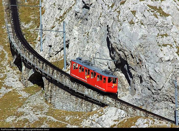 World's steepest cogwheel railway — Pilatusbahn
