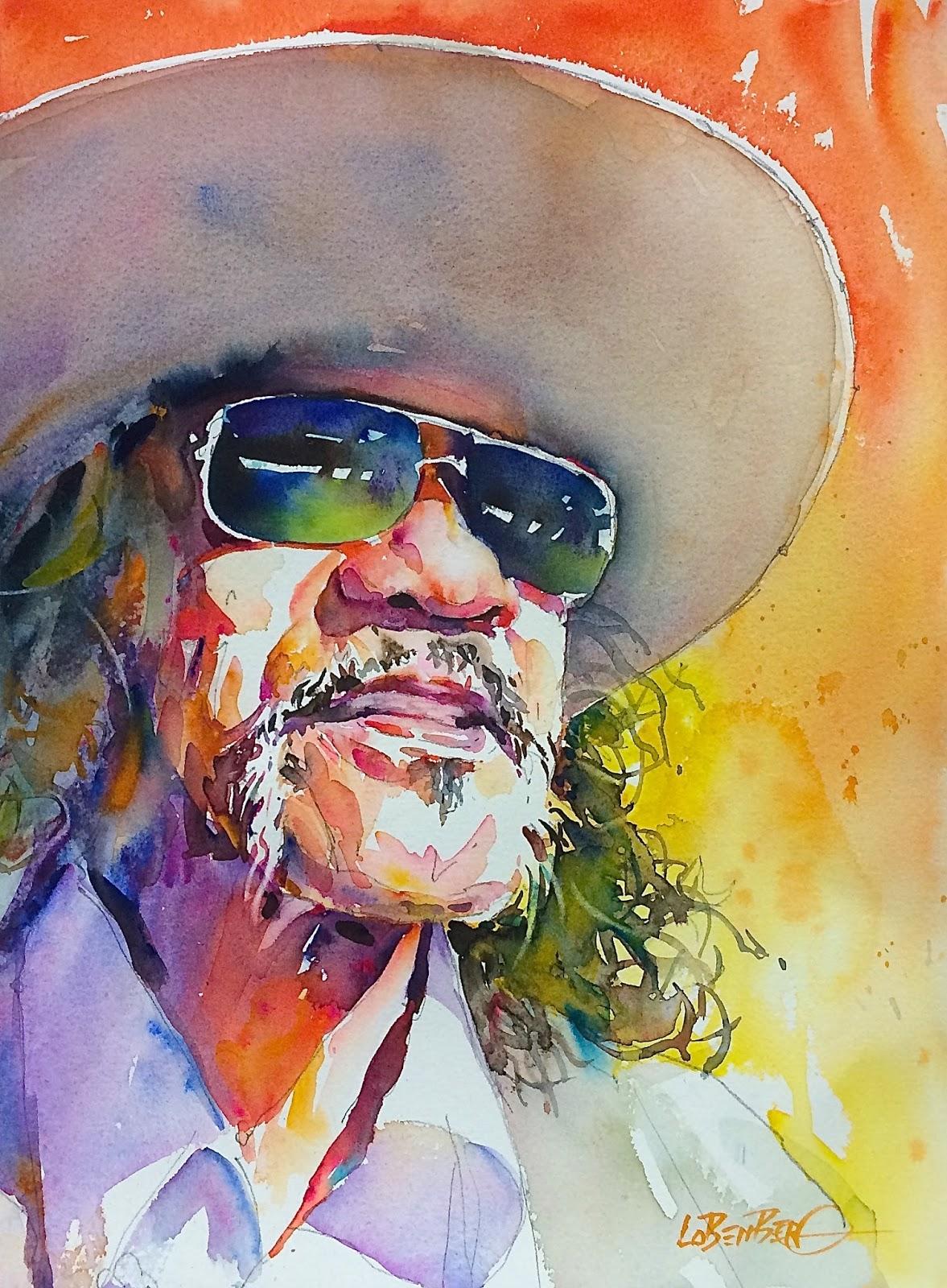 david lobenberg musico mexicano watercolor step by step