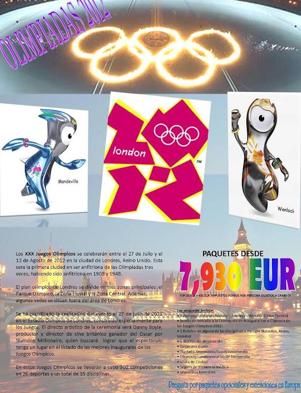 viaje a los juegos olimpicos londres 2012