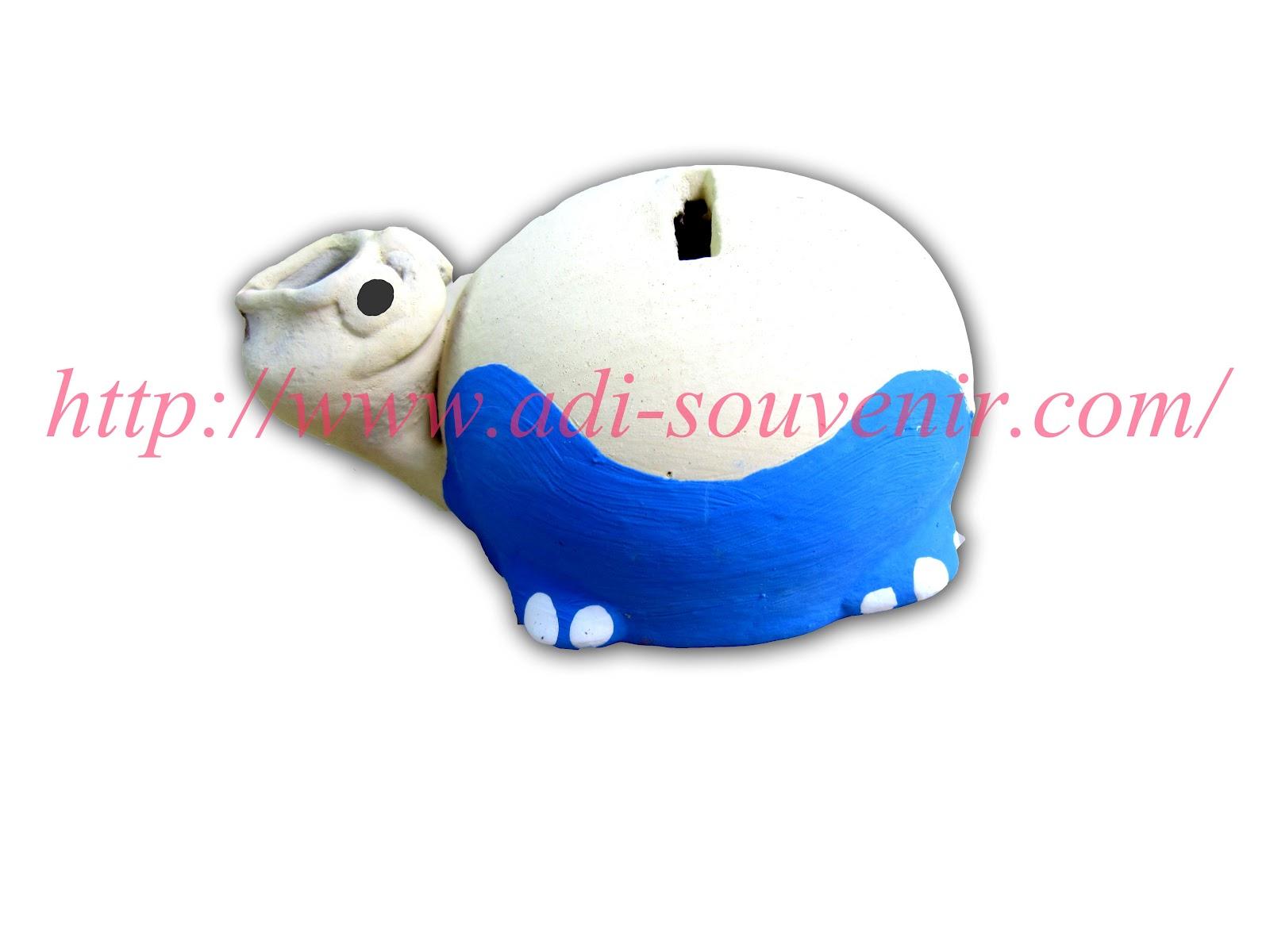Keramik Celengan Kura-Kura Custom KC 2 | Adi - Souvenir
