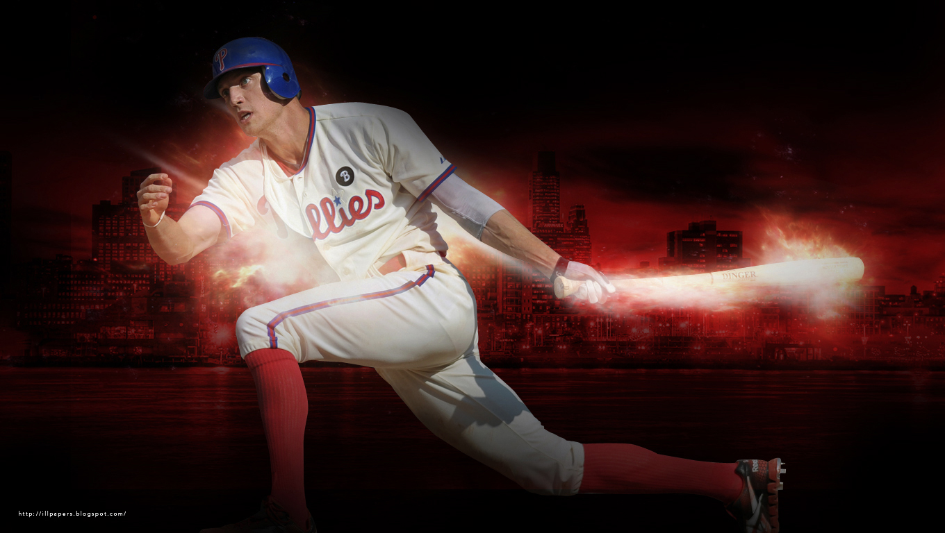 New Phillies Hunter Pence Wallpaper This May Be A Little Light The Monitor I Was Working On Wasnt Calibrated CorecctlyIf Its Too For You Check