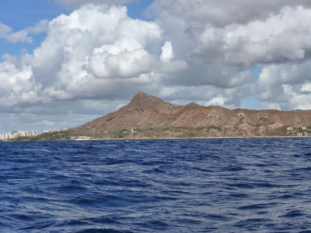 photo of passing by Diamond Head to Waikiki and Honolulu