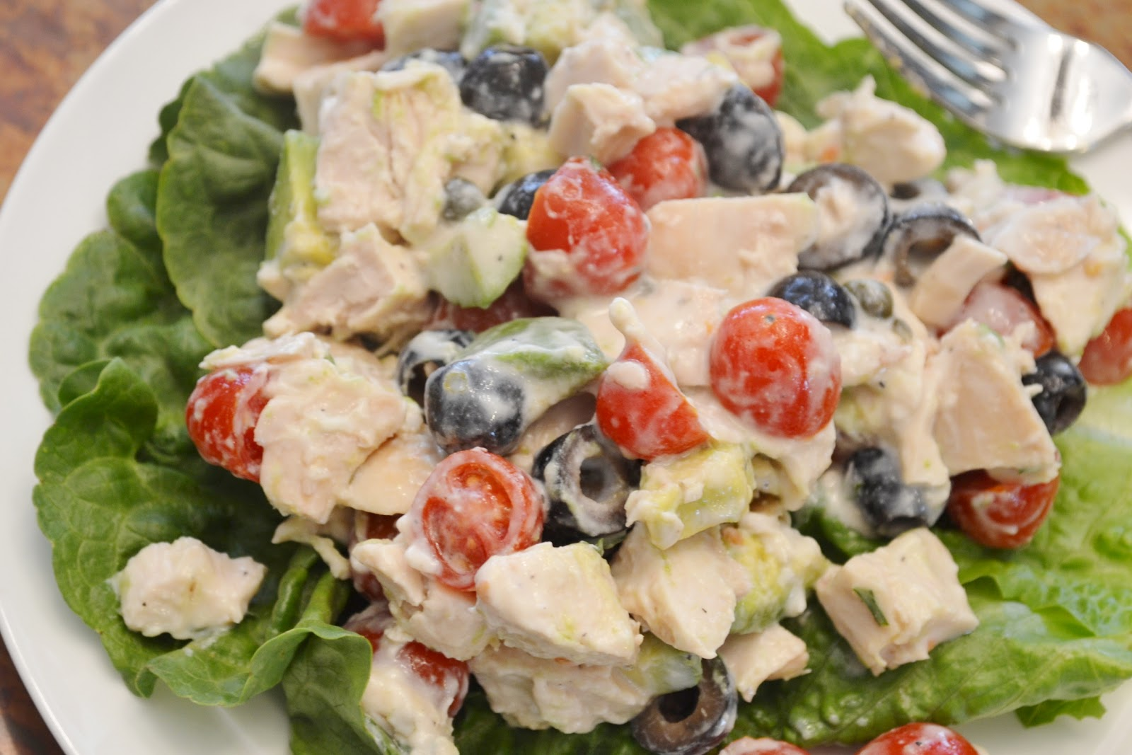 ... : Chicken and Avocado Lettuce Boats with Buttermilk Dijon Dressing