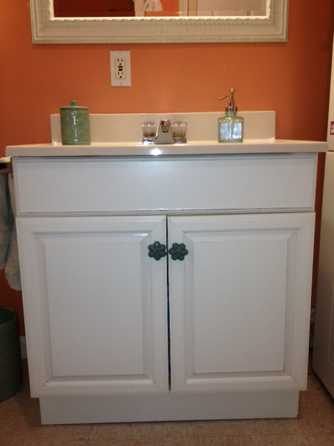 The elegant house painting a laminate bathroom vanity for Painting laminate bathroom vanity