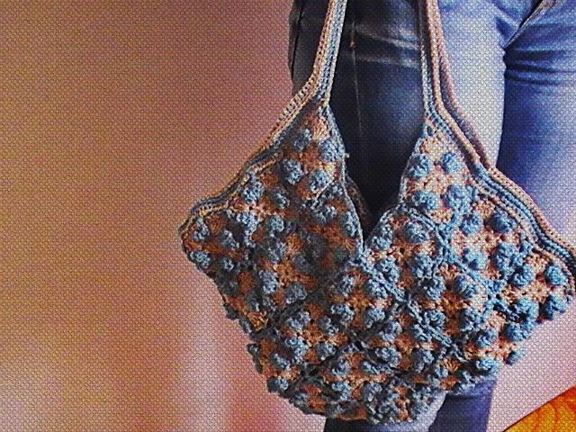 Granny Square: bolso tejido a crochet