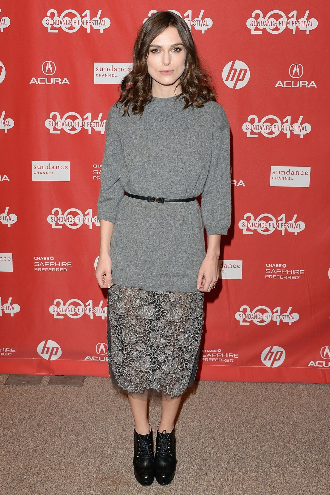 Keira Knightley at Sundance Film Festival in Valentino