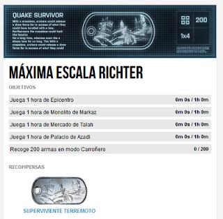 """Misión 10: Máxima Escala Richter (Chapa """"Superviviente Terremoto"""")"""
