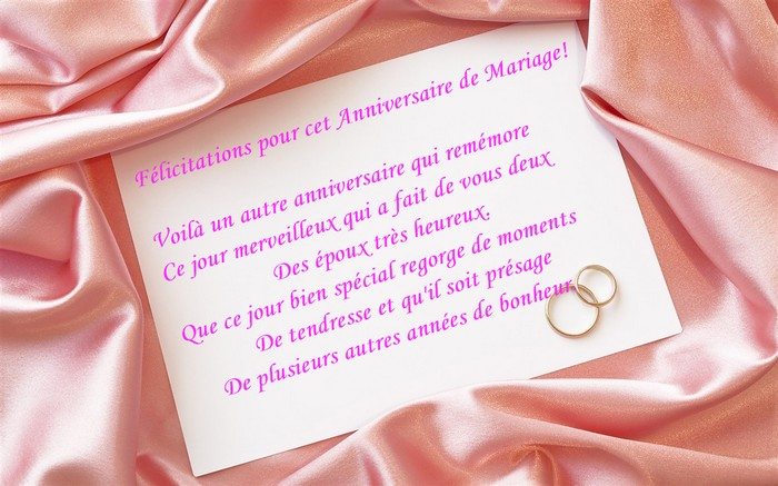 citations anniversaire mariage - Exemple Felicitation Mariage