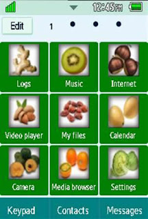 General Healthy, Vegetables, Fruits Samsung Corby 2 Theme 2 Menu