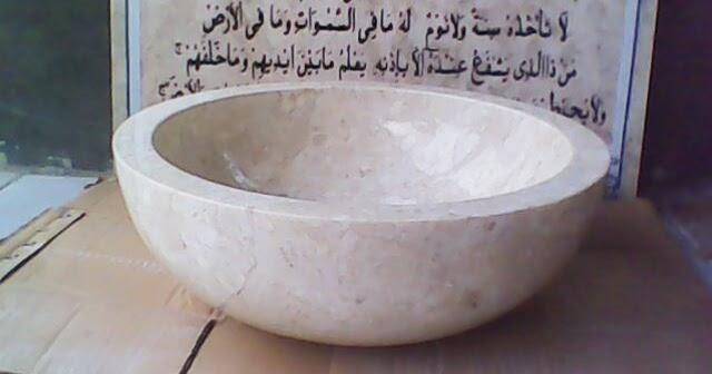 wastafel marmer jenis bowl paling cocok untuk element indoor