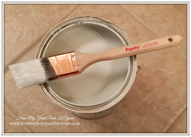 1 1/2 inch paint brush used to paint interior doors- From My Front Porch To Yours.
