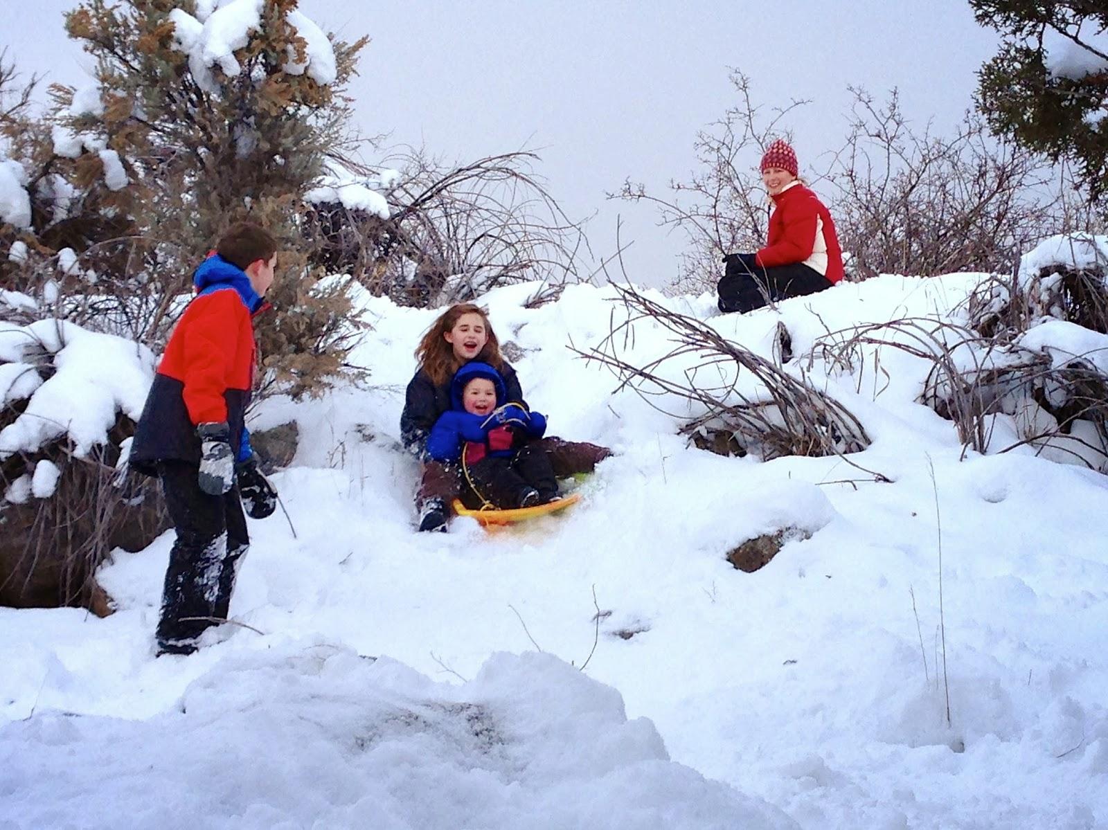 Sledding in Colorado