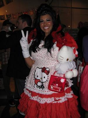 Hello Kitty weird fashion dress