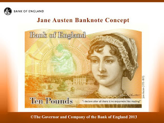 ten pounds, 10 libras, jane austen