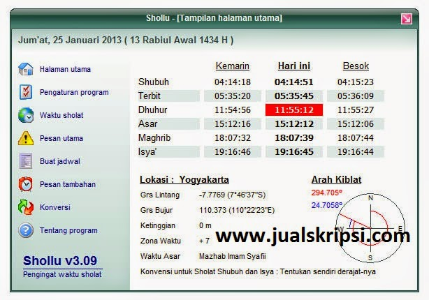 Software Pengingat Shalat