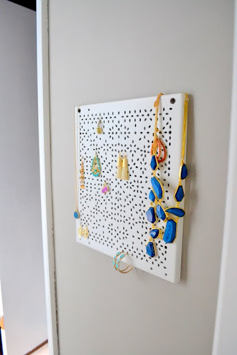 Ikea hack jewelry organizer