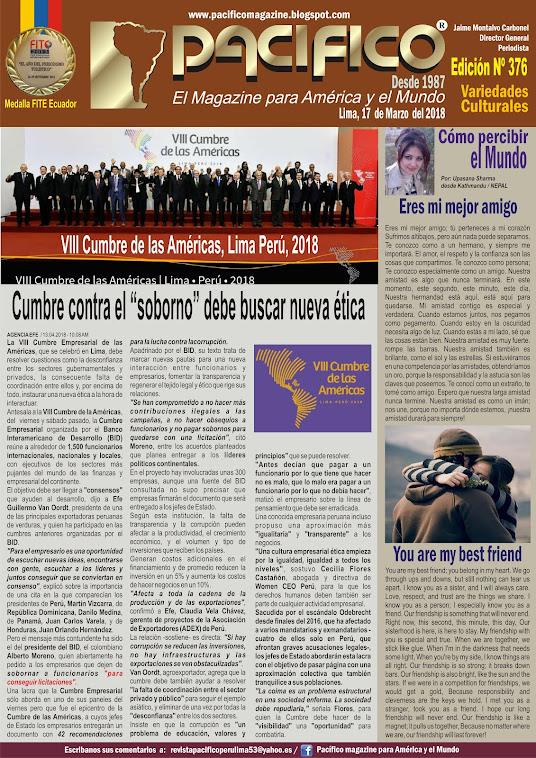 Revista Pacifico Nº 376 Variedades Culturales