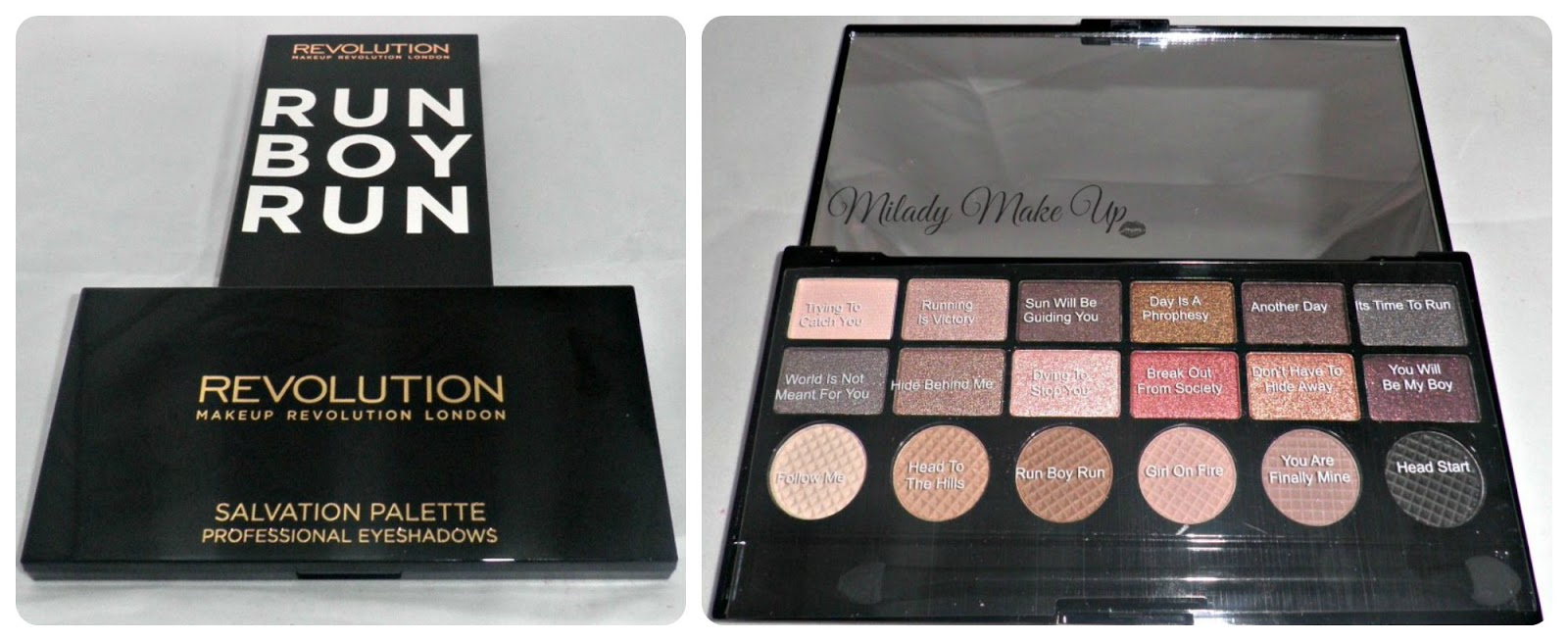 Run boy run makeup revolution palette