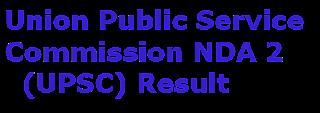 UPSC NDA 2 Results