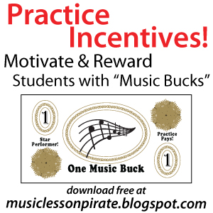 photo relating to Printable Reward Bucks named Songs Lesson Pirate - Audio Instruction Materials: Prepare