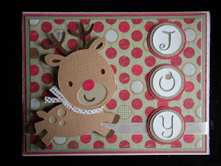 Cricut, Create-A-Critter, Christmas Card, Rudolph, Mini Monograms,